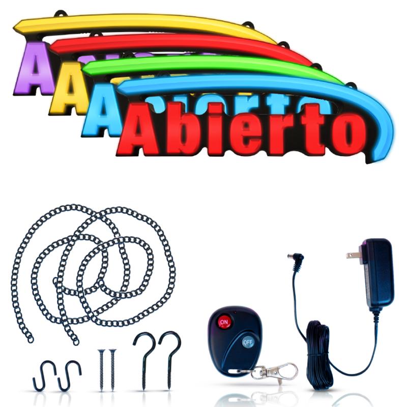 Super Bright RGB LED Abierto Sign